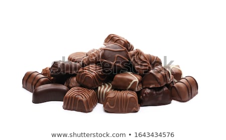 Chocolate truffles isolated on white Stock photo © elly_l