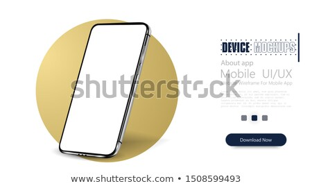 gold smartphone stock photo © magraphics