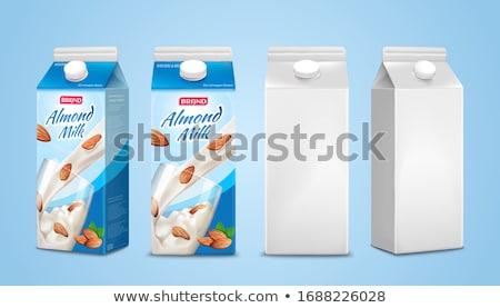 青 ミルク コンテナ ジュース その他 飲物 ストックフォト © magraphics