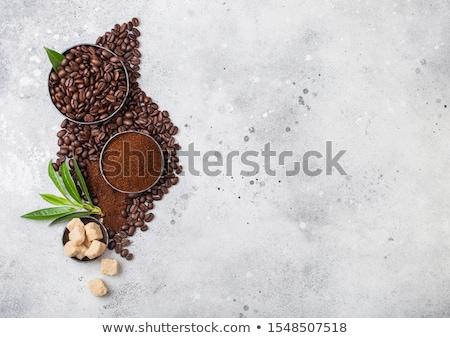 vers · ruw · organisch · koffiebonen · grond · poeder - stockfoto © denismart