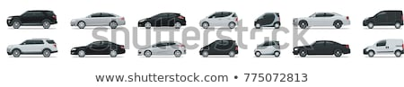 Conjunto veículos suv sedan vista lateral vetor Foto stock © Ipajoel