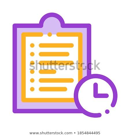 Vágólap tabletta feladatok vektor vékony vonal Stock fotó © pikepicture