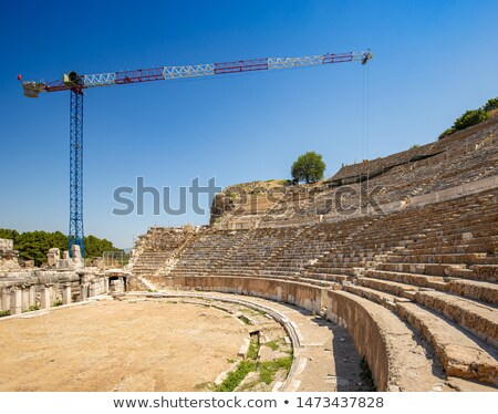 reconstruction work at the ancient ephesus stock photo © grafvision
