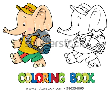 cartoon · illustratie · kleur · boek · zwart · wit - stockfoto © izakowski