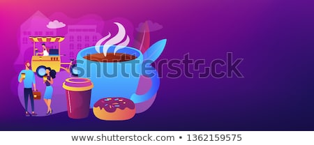 Street coffee concept banner header. Stock photo © RAStudio