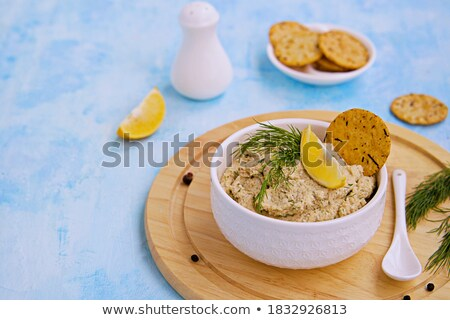 ahumado · peces · queso · crema · superior - foto stock © masay256