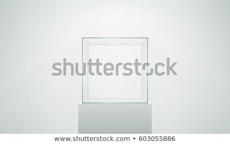 Glas display 3d illustration geïsoleerd witte achtergrond Stockfoto © montego