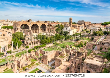 Roman Forum And Colosseum Stock photo © AndreyPopov