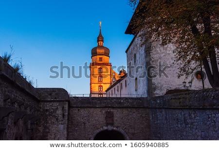 templom · Németország · torony · protestáns · város · felhő - stock fotó © borisb17