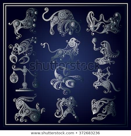 Sticker of Libra Zodiac Sign Stock photo © cidepix