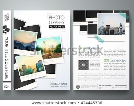аннотация макет память книга дизайна Сток-фото © SArts