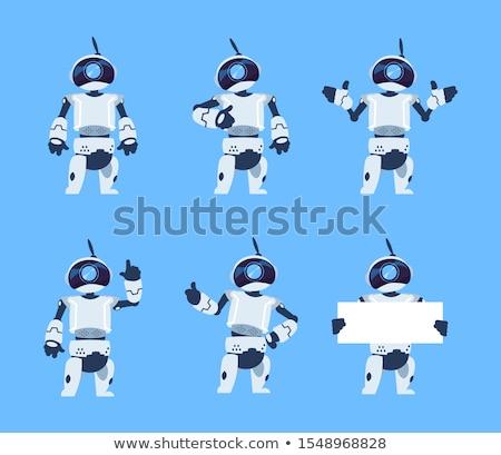 Robotok rajz betűk szett illusztráció tudományos fantasztikum Stock fotó © izakowski
