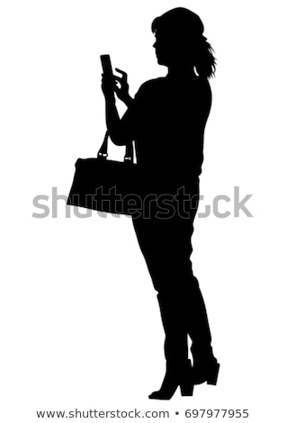 female in city woman speaking by phone vector stock photo © robuart