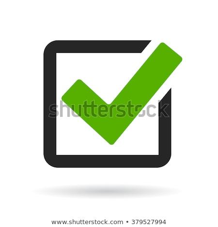 Verde caja icono aislado blanco signo Foto stock © kyryloff