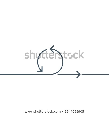 Abstract linear circle arrow icon. Stock Vector illustration isolated on white background. Stock photo © kyryloff