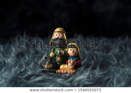 Heilig Familie grau künstliche Fell Kind Stock foto © nito