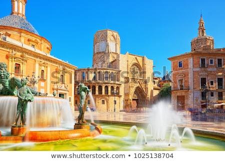 квадратный · Валенсия · Испания · собора · город · архитектура - Сток-фото © borisb17