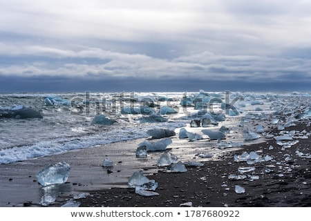 Elmas plaj İzlanda ünlü siyah buzul Stok fotoğraf © Anna_Om