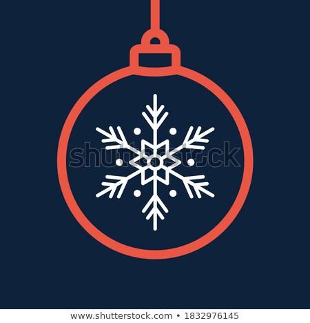 安物の宝石 シルエット クリスマス 休日 リニア アイコン ストックフォト © barsrsind
