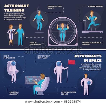 Kosmonaut buiten internationale ruimte station communie Stockfoto © NASA_images