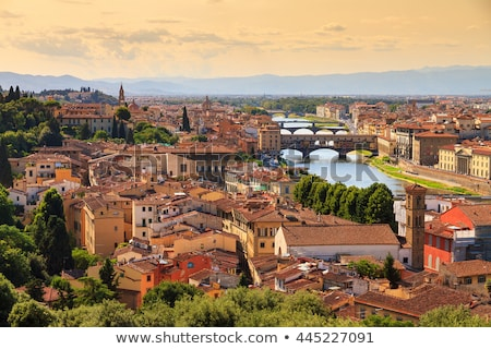 Beautiful view of bridge Ponte Vecchio, Florence, Italy Stock photo © Zhukow