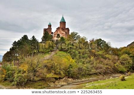 Georgië kerk hemel gebouw muur reizen Stockfoto © borisb17