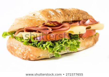Biały chleba deska do krojenia żywności niezdrowe jedzenie Zdjęcia stock © dolgachov