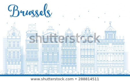 Bruselas horizonte edificios lugar cielo Foto stock © ShustrikS