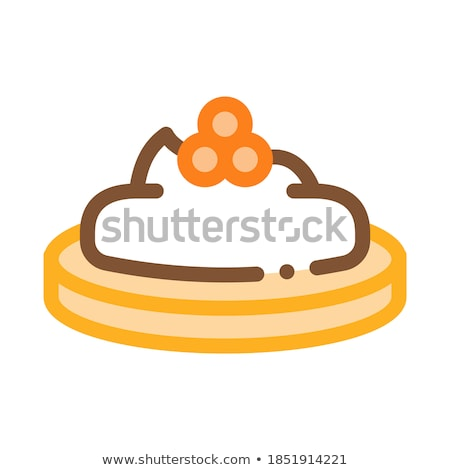 Caviar On Cracker Icon Vector Outline Illustration Stock photo © pikepicture