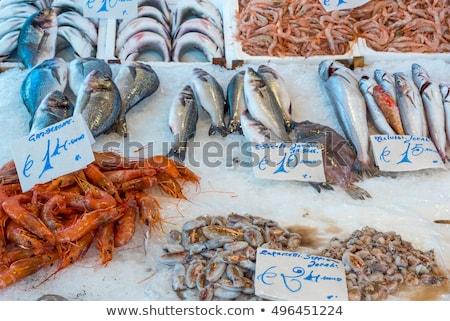 Fresh fish at the Vucciria market Stock photo © elxeneize