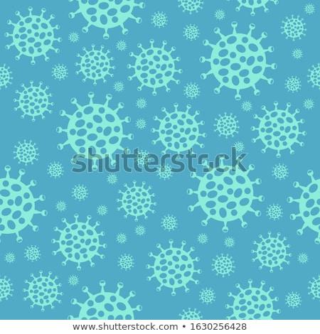 коронавирус шаблон бесшовный вирус глобальный эпидемия Сток-фото © popaukropa
