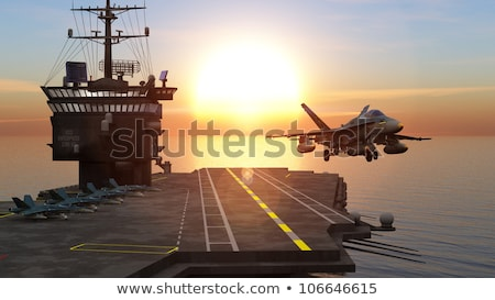 Military aircraft carrier Stock photo © jossdiim