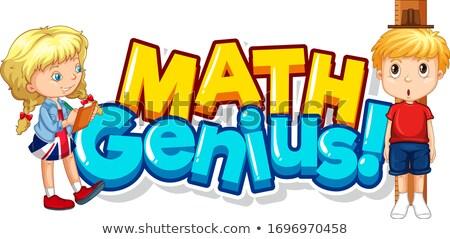 Doopvont ontwerp woord math genie twee Stockfoto © bluering