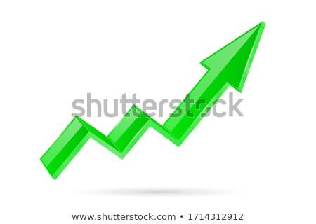 upward moving growth green arrow business background Stock photo © SArts