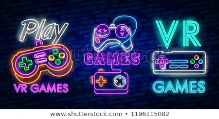Game Joystick Neon Sign Stock photo © Anna_leni