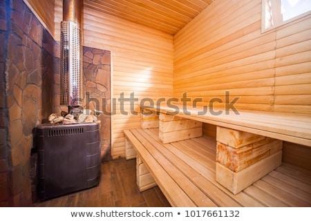 Interior of russian bath Stock photo © olira