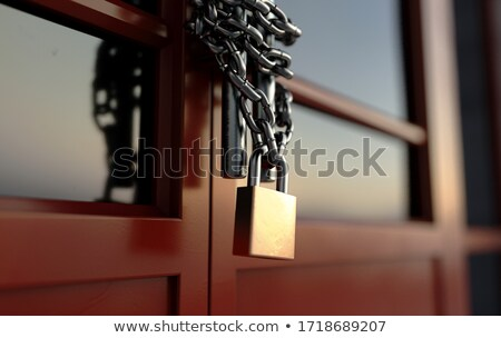 Shop Door Chained Lockdown Stock photo © albund