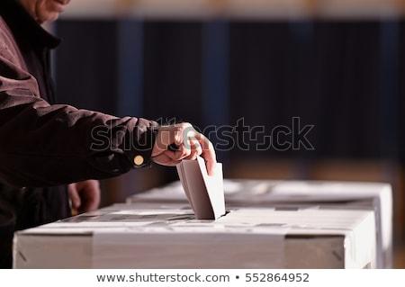 Wyborów kampania kandydat promocji reklamy ilustracja Zdjęcia stock © jossdiim