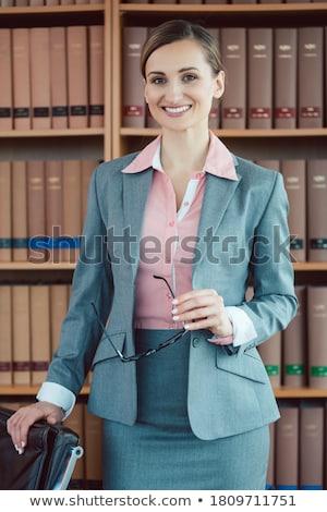 Prawnik prawa biuro biblioteki działalności Zdjęcia stock © Kzenon