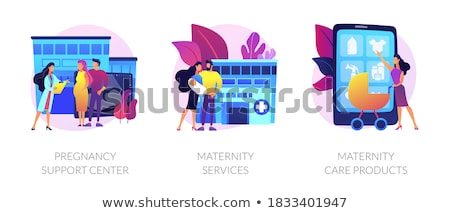 Pregnancy and maternity vector concept metaphors. Stock photo © RAStudio