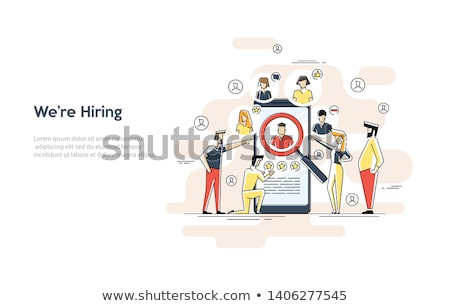 Resume. Job search and recruiting concept. HR management. Application form Stock photo © natali_brill