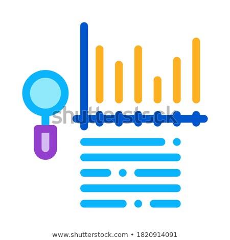 Estudar gráfico de barras ícone vetor Foto stock © pikepicture