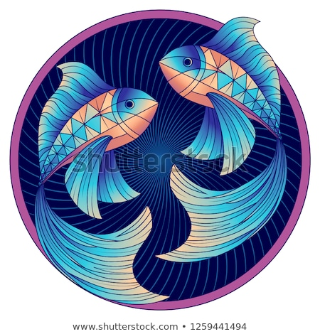 Astrological Pisces Sign, Symbol of Two Fishes Stock photo © robuart