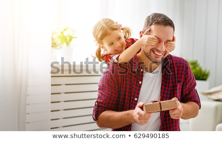 happy fathers day background with dad and daughter Stock photo © SArts