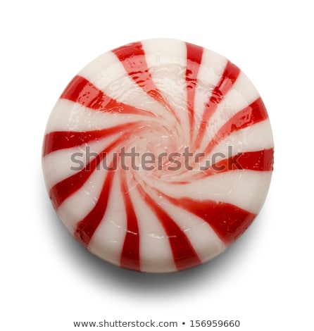 Sweet hard peppermint candy and mint Stock photo © furmanphoto