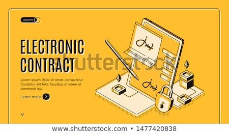 Contract landing pagina kwaliteit business deal Stockfoto © RAStudio