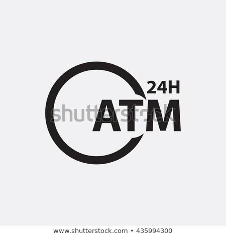 24 hora atm signo post dinero Foto stock © mybaitshop