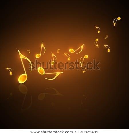 muzyki · Uwaga · muzyki · zauważa · neon · zielone - zdjęcia stock © elak