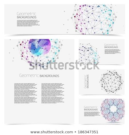Abstrakten Vernetzung Karte Illustration Internet Welt Stock foto © get4net