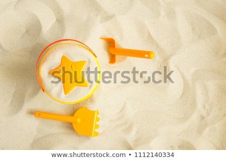 Foto stock: Praia · brinquedos · balde · pá · outro · praia · tropical